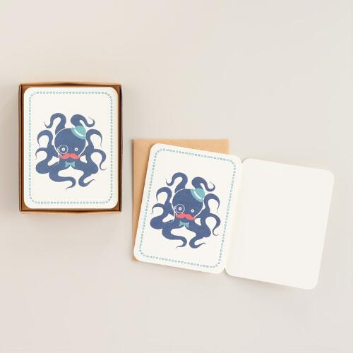 Mr. Octopus Boxed Notecards, Set of 8