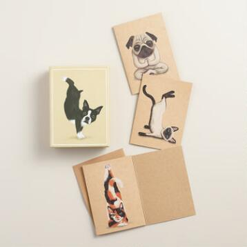 Yoga Pets Notecards, Set of 12