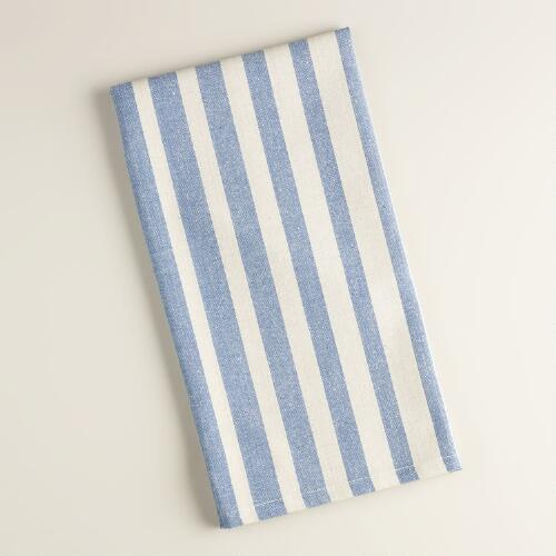 Blue Ombre Stripe Kitchen Towels, Set of 2