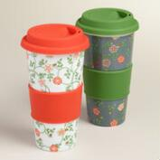 Elizabethan Ceramic Travel Not-A-Paper Cup, Set of 2