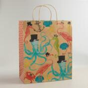 Jumbo Sea Creatures Kraft Gift Bag