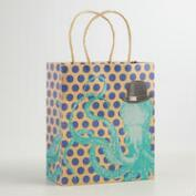 Medium Octopus Kraft Gift Bags, Set of 2
