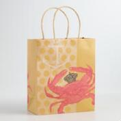 Medium Crab Kraft Gift Bags, Set of 2