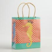 Small Seahorse Kraft Gift Bags, Set of 6