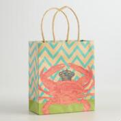 Small Crab Kraft Gift Bags, Set of 6