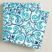 Turquoise Tile Beverage Napkins, 20-Count