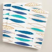 Modern Fish Lunch Napkins, 20-Count
