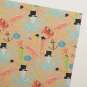 Sea Creatures Kraft Giftwrap Roll