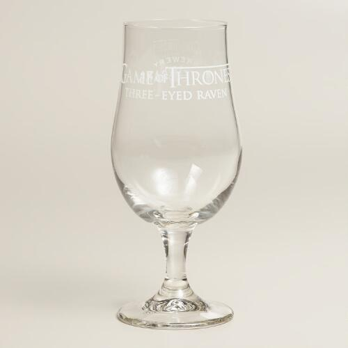 Game of Thrones 3-Eyed Raven Beer Glasses, Set of 2