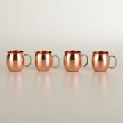 Mini Moscow Mule Copper Mugs, Set of 4