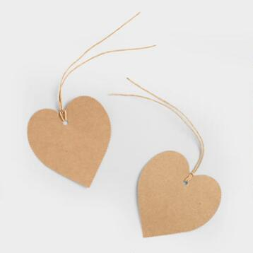 Kraft Heart Gift Tags, 10-Pack
