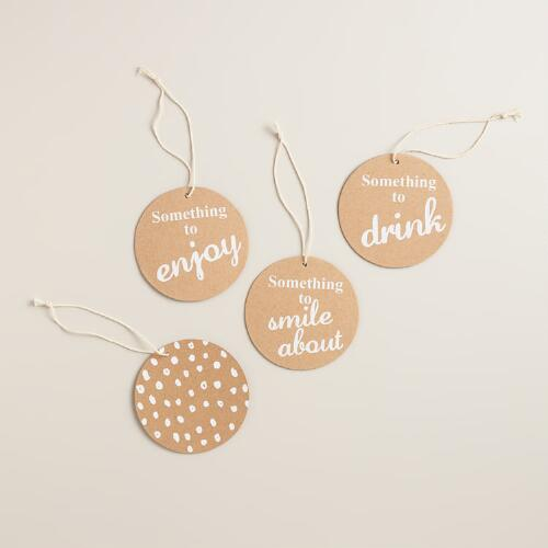 Round Kraft Gift Tags, 9-Pack