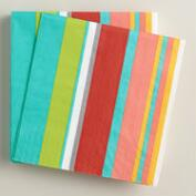 Striped Bungalow Summer Beverage Napkins, 16-Count
