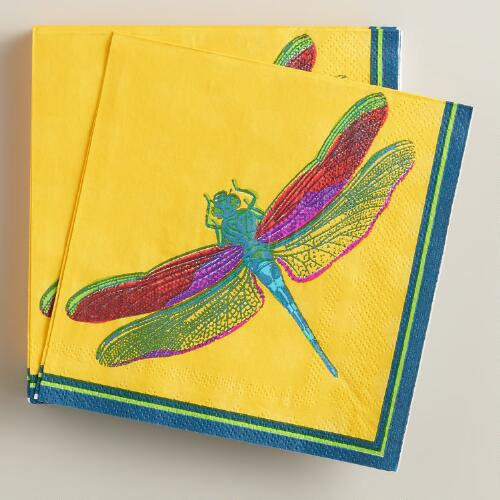 Fiji Dragonfly Beverage Napkins,16-Count
