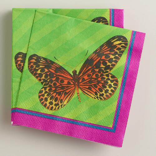 Fiji Butterfly Beverage Napkins, 16-Count