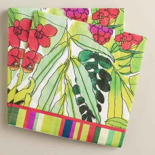 Fiji Foliage Lunch Napkins, 16-Count