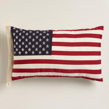 American Flag Lumbar  Pillow