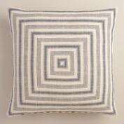 Mitered Stripe Herringbone Throw Pillow