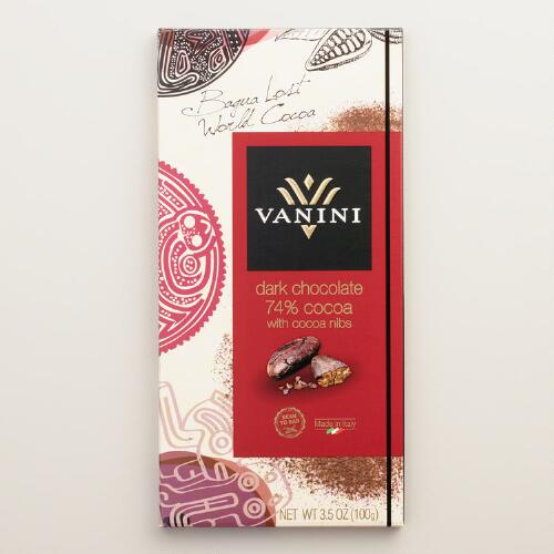 Vanini 74% Cacao Dark Chocolate Bar with Cocoa Nibs