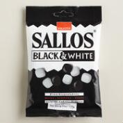 Sallos Black and White Licorice, Set of 4