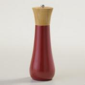 Red Bamboo Salt and Pepper Mill