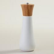 White Bamboo Salt and Pepper Mill