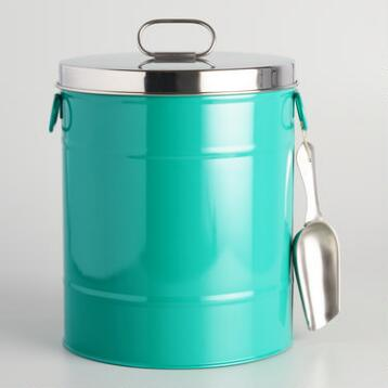 Lagoon Blue Pet Food Storage Container with Scoop