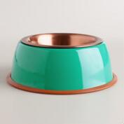 Lagoon Blue Copper Pet Bowl