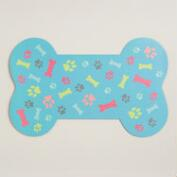 Bone Dog Bowl Mat