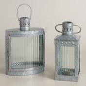 Galvanized Metal and Glass Nautical Lantern