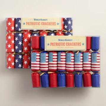 Mini Patriotic Crackers, Set of 2