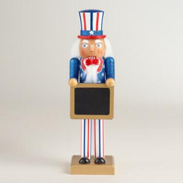 Uncle Sam Nutcracker with Chalkboard