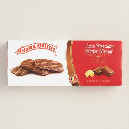 Belgian Dark Chocolate Butter Cookies, 12-Pack