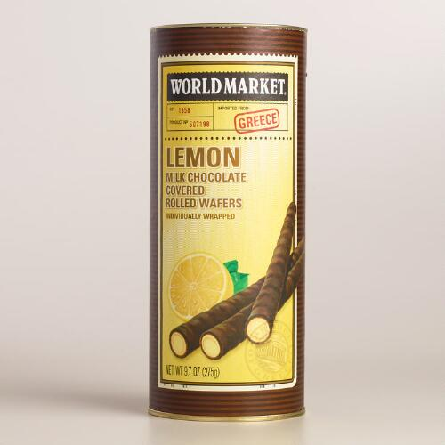 World Market® Lemon Rolled Wafers