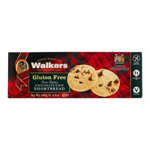 Walkers Gluten-Free Chocolate Chip Shortbread, Set of 6