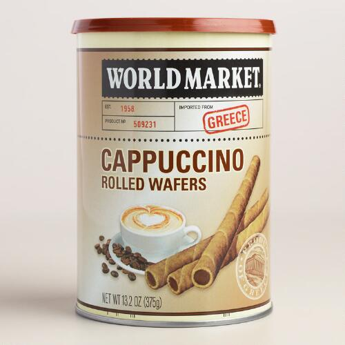 World Market® Cappuccino Rolled Wafers, 12-Pack