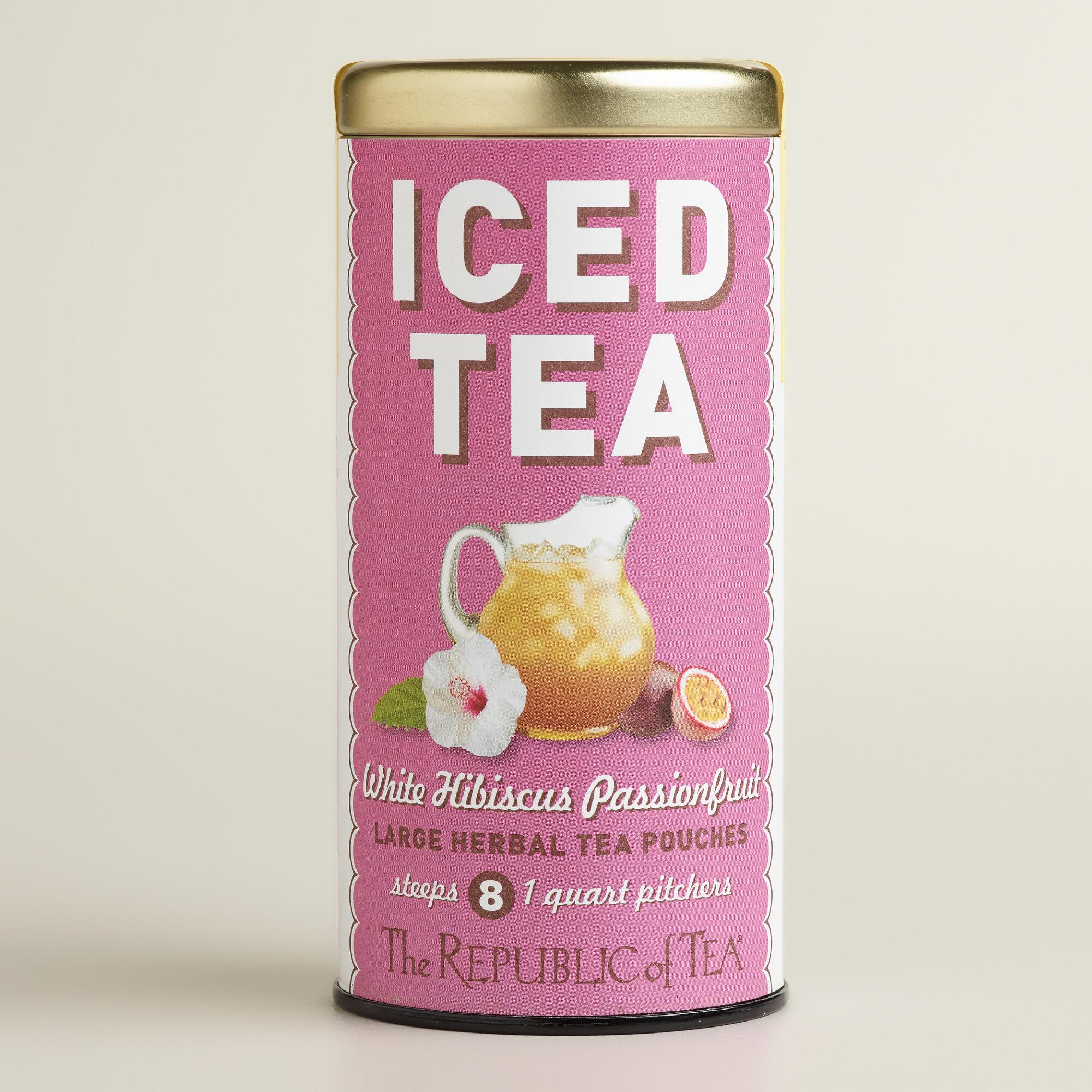 ... Republic of Tea White Hibiscus & Passion Fruit Iced Tea | World Market