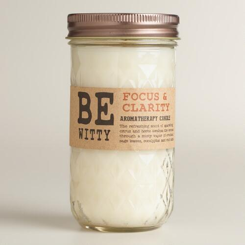 Be Witty Be Focused Aromatherapy Jar Candle