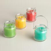 Mini Citronella Jar Candles, Set of 4
