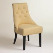 Yellow Linen Lydia Dining Chairs, Set of 2