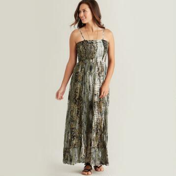 Brown Tie-Dye Rachel Maxi Dress