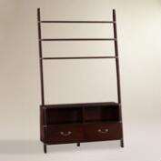 Espresso Ladder Media Stand