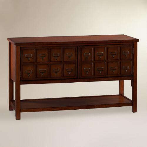 Brown Mahogany Apothecary Media Stand