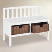 White Oakdale Storage Bench
