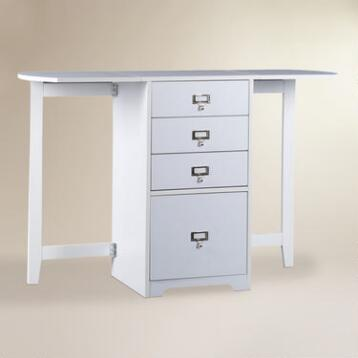 White Folding Craft Desk