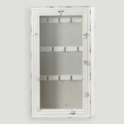 Antique White Nali Wall Jewelry Armoire