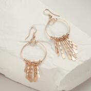 Rose Gold Hoop Drop Earrings