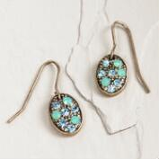 Pacific Opal Oval Drop Earrings