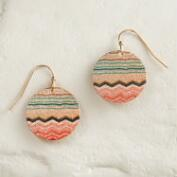 Round Shimmer Drop Earrings
