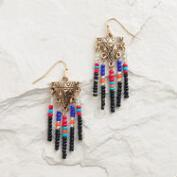 Multicolor Southwest Bead Dangle Earrings